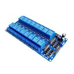 MyXL 1 STKS TZT teng 1 STKS 12 V 16 Kanaals Relais Module voor arduino ARM PIC AVR DSP Elektronische Relais Plaat Riem optocoupler isolatie