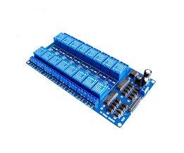 1 STKS TZT teng 1 STKS 12 V 16 Kanaals Relais Module voor arduino ARM PIC AVR DSP Elektronische Relais Plaat Riem optocoupler isolatie