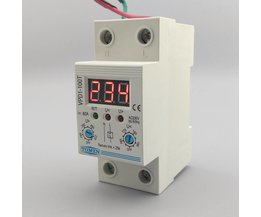 80A 220 V verstelbare automatische reconnect over voltage en onder bescherming apparaat relais met Voltmeter voltage monitor
