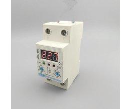 60A 220 V verstelbare automatische reconnect over voltage en onder bescherming apparaat relais met Voltmeter voltage monitor