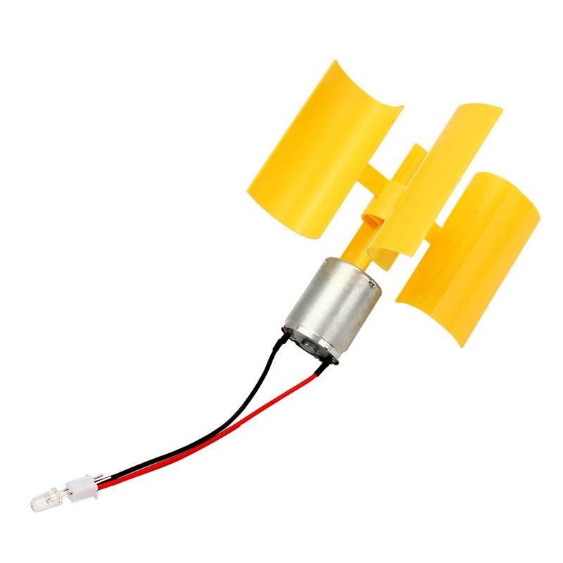 DC Micro Motor Kleine Led-verlichting Verticale As Windturbines Generator Bladeskoop