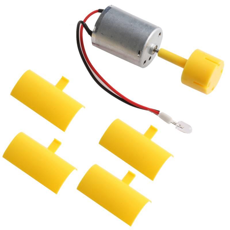 DC Micro Motor Kleine led-verlichting Verticale As Windturbine Generator Blades-L057