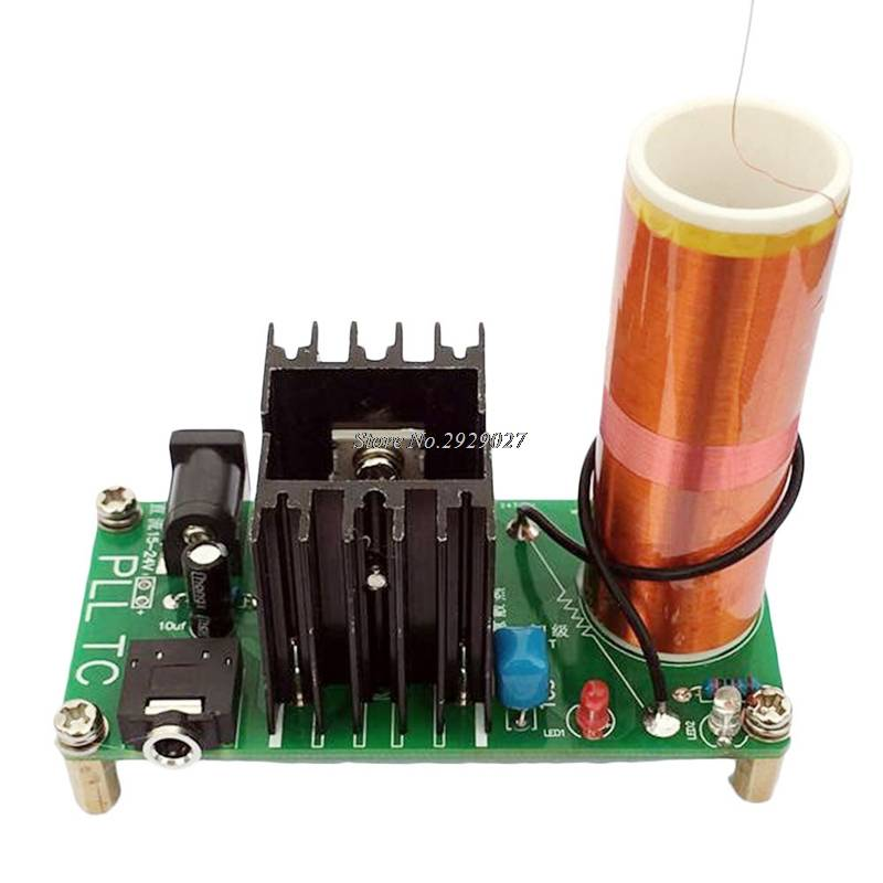 Kits 15 W Tesla Mini Coil Plasma Speaker DC 15-24 V Draadloze Zender Generator-Y122