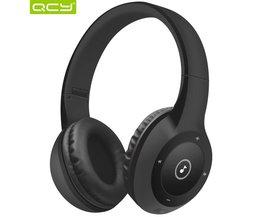 40 uur spelen QCY J1 Bluetooth 3D stereo hoofdtelefoon draadloze headset 3.5mm AUX tf-kaart hoofdtelefoon over het Oor met MIC