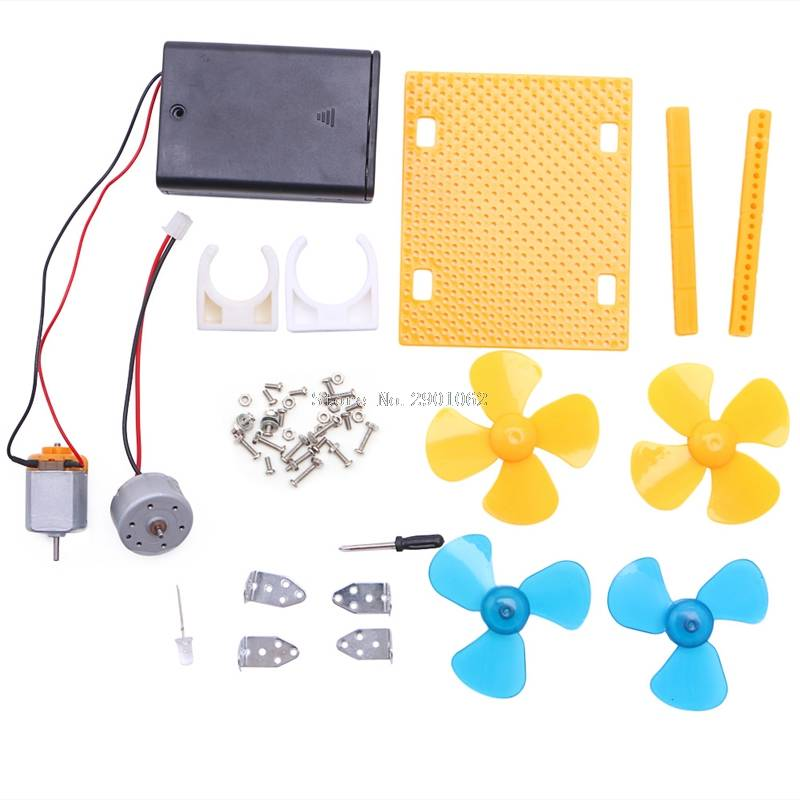 Elektrische Generator Motor Energie Windturbine Power Mini Kids LED Onderwijs DC AC-B119