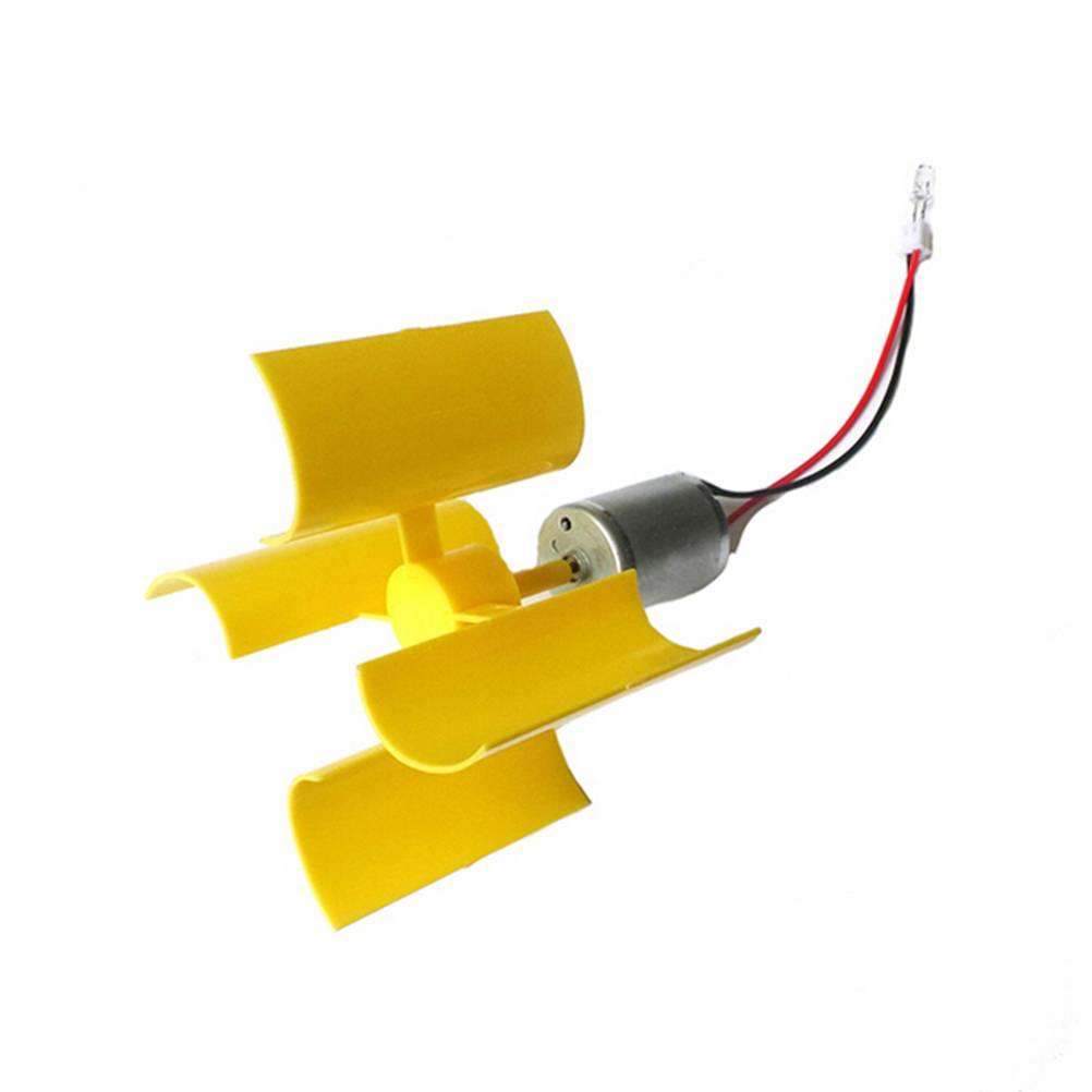 1 STKS DC Micro Motor Kleine Led-verlichting Verticale As Windturbines Generator Blades