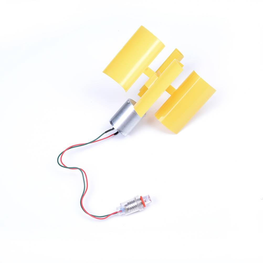 3 V-5 V Kleine DC Motor Verticale Micro Windturbines Blades Power Generator DIY Kit