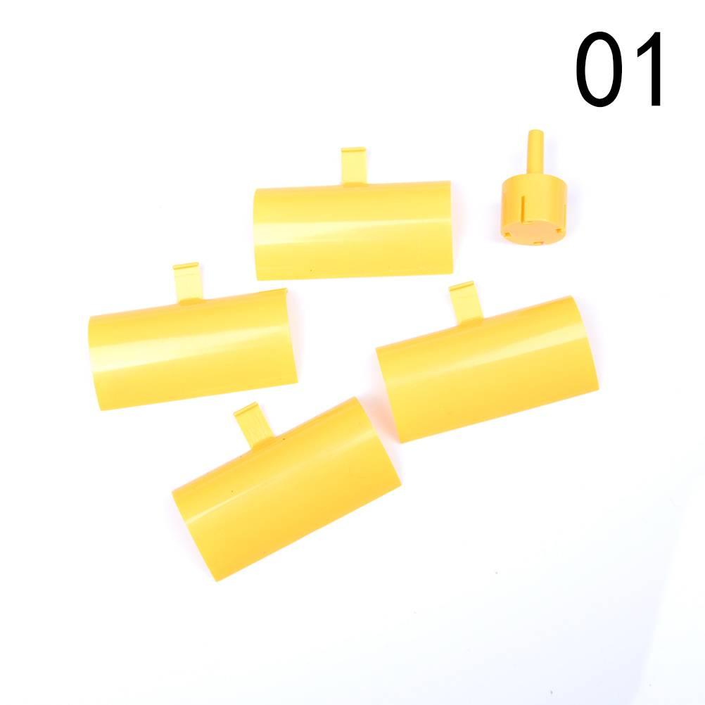 Geel DC Micro Motor Kleine Led-verlichting Verticale As Windturbines Generator Blades