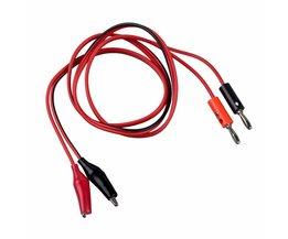 WSFSKoop3Ft Rode Alligator Clip banana Plug Probe Kabel Test Lead 90 cm