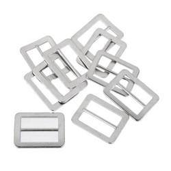 MyXL 10 stks Metalen Tri-glide Rugzak Riemen Gespen Passen 25mm Singels Slider Voor Naaien Accessoires