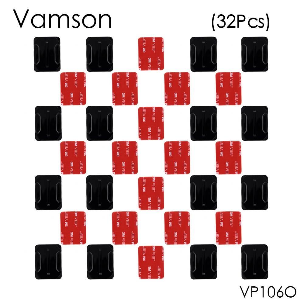 Vamson 32 stks/set 16 stks Gebogen Oppervlak Mount Base + 16 stks 3 M Sticker Voor Gopro Hero 5 4 3 + voor Xiaomi voor Yi voor SJ400 VP106O