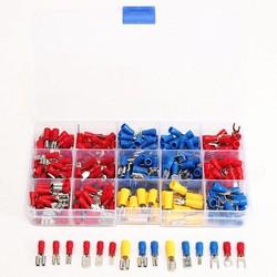 MyXL 280 Stks Diverse Geïsoleerde Spade Crimp Terminal Elektrische Draad Connector Set Rood Blauw Geel