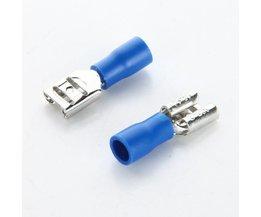 20 stks/partij 6.3 plug FDD2-250 Blauw Vrouwelijke Quick Disconnect Kabel Draad Splice Isolatie Terminal Connector 1.5-2.5mm2 16-14AWG
