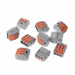 MyXL 10 Stks 3 Manier Elektrische Kabel Draad Connector Herbruikbare Hendel Klemmenblok Draad Connectoren R06 Drop Schip