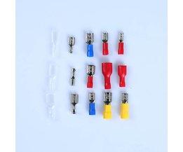 150 Stks/pak Diverse Geïsoleerde Elektrische Draad Kabel koudgeperste Terminals Crimp Connector Spade Set Voor Auto Industrie