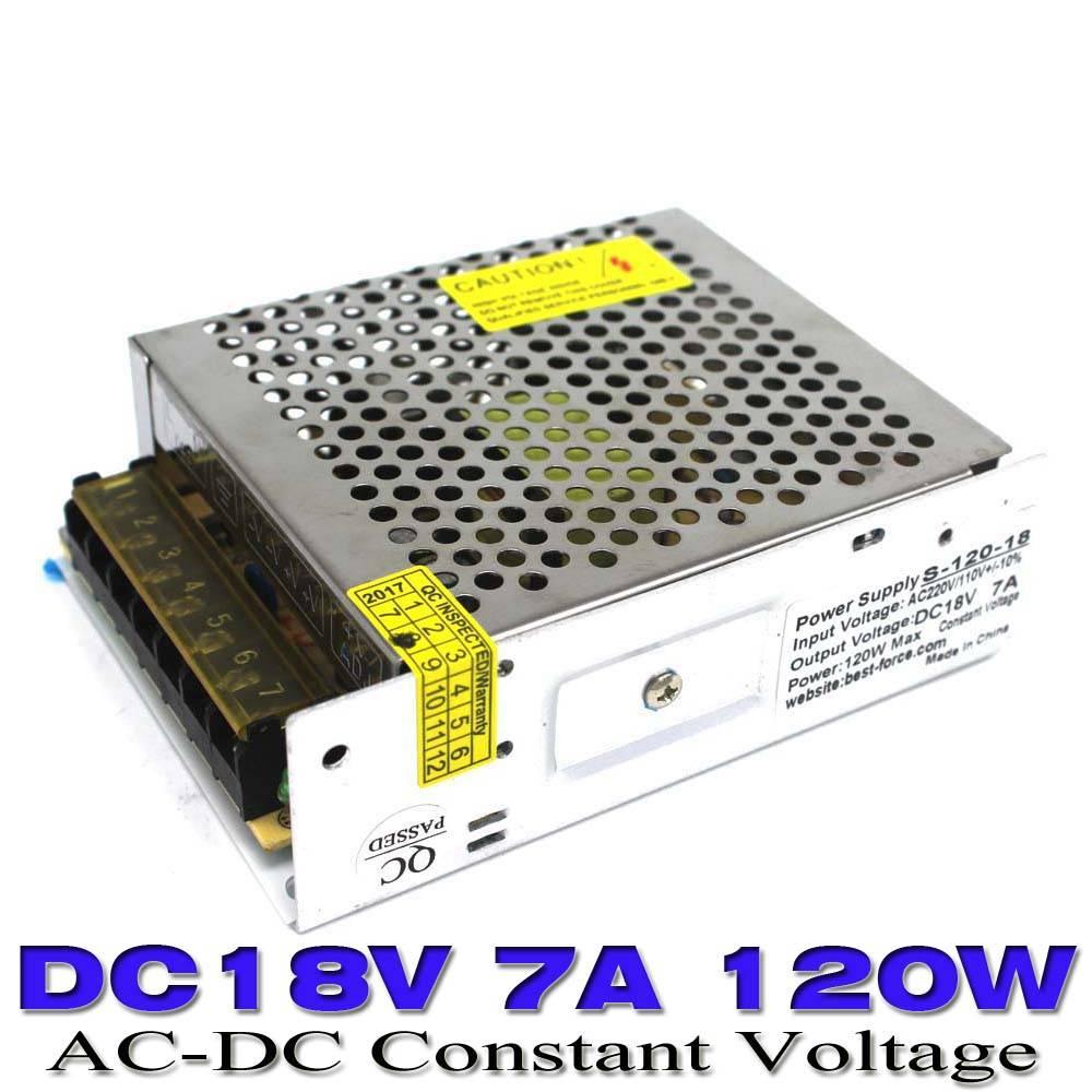 120 W 7A 18 V DC Schakelaar Voeding Adapter Voltage transformator 110 V 220 V AC-DC SMPS Voor LED St