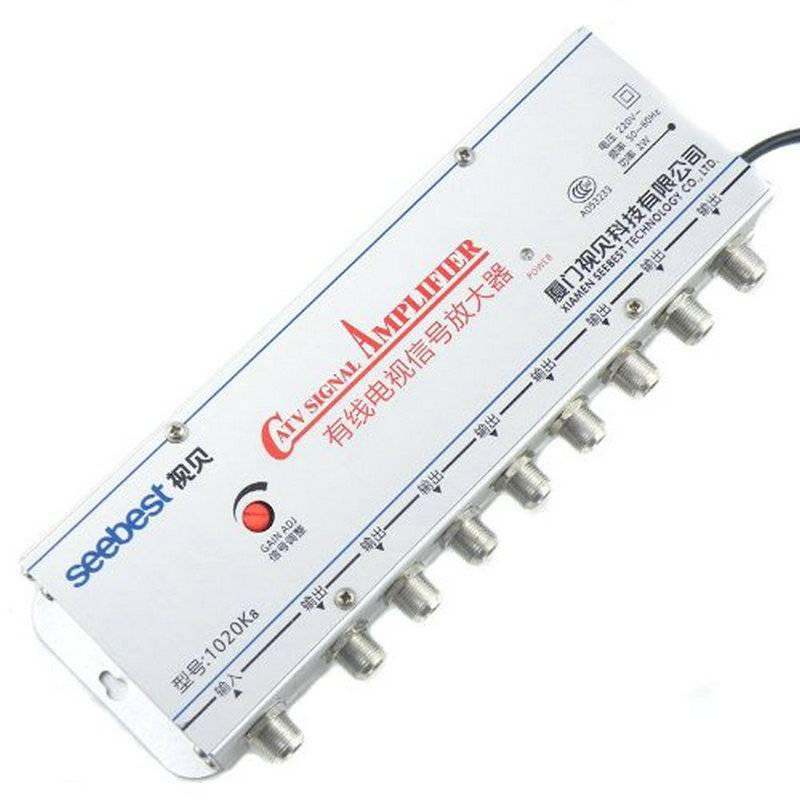 1020K8 8 Way CATV Signaalversterker Kabel TV Signaal Versterker Splitter Booster CATV 20DB US Plug