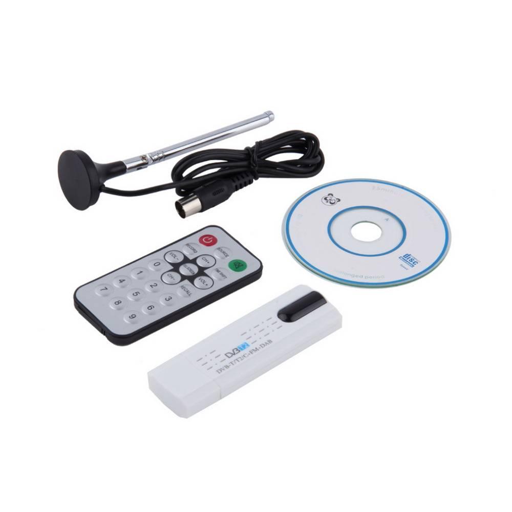 Digitale DVB-T2-T DVB-C USB 2.0 TV Tuner Stick HDTV Ontvanger met Antenne Afstandsbediening HD USB D