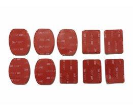 10 Stuks Helm Mount 3 M VHB Sticker 5 Platte Mount Stickers + 5 gebogen mount stickers voor gopro hero 4 3 + 3 2 sjcam