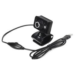 MyXL 20 Megapixels USB 2.0 Webcam Bedrade Camera 3 LED WebCam Ingebouwde MICROFOON Microfoon Verstelbare Focus Rode Zwarte Clip voor Computer