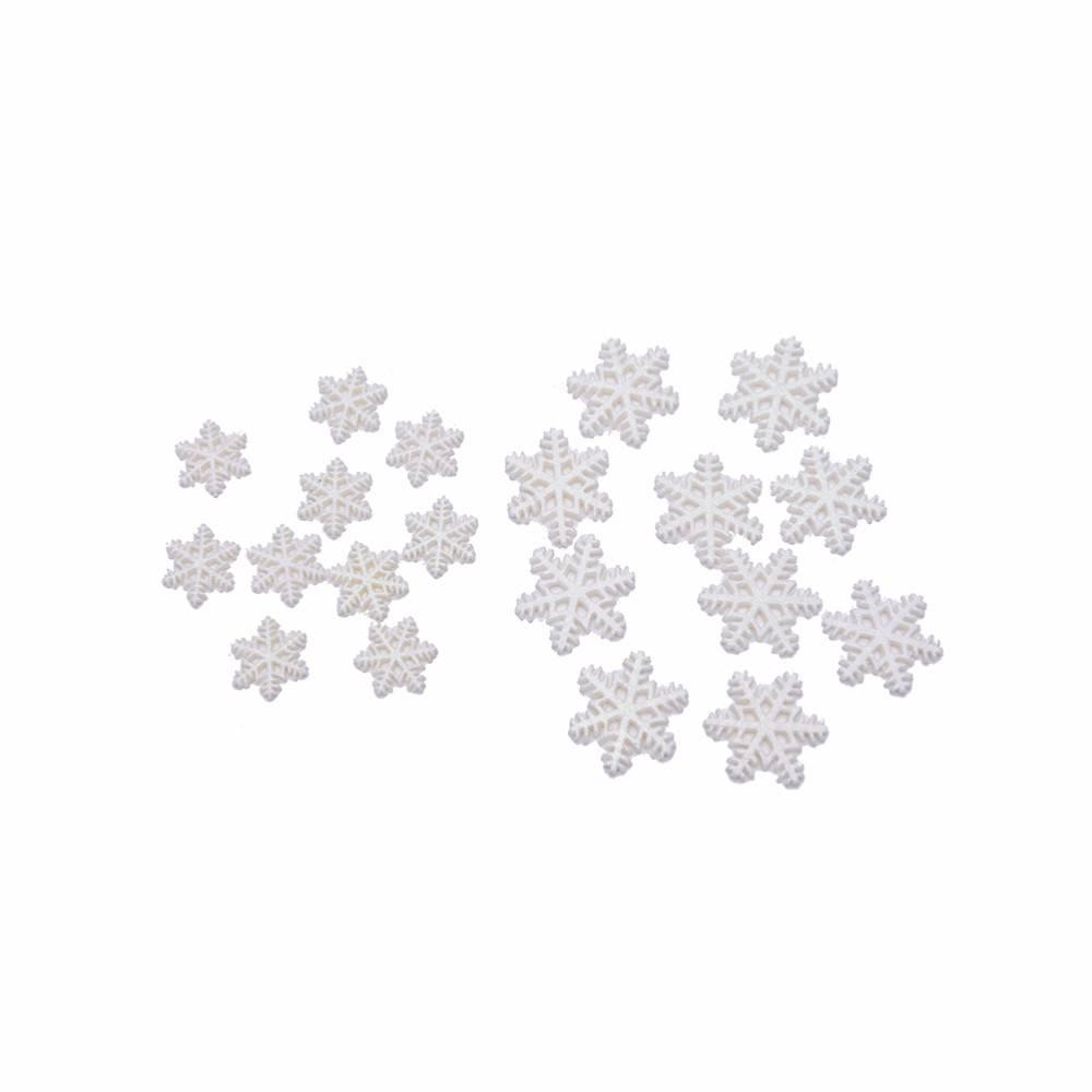 10 STKS Vrolijk Kerst Ornamenten Koop Wit Sneeuw Vlok Resin Plakstenen Craft Mini Xmas Decoratie Lev