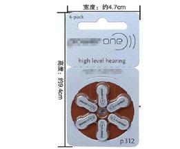 Om import gehoorapparaat batterijen A312 PR41 zink air batterij 312 ZENIPOWER EEN P312.