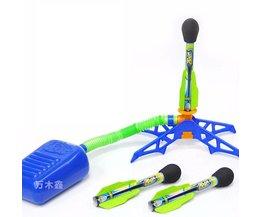 Kinderen Kids Outdoor Speelgoed Vakantie Fun Sport Play Zing Zoom Rocketz BUBBLE ROCKET Set Jump Jet Launcher Kousvuller speelgoed