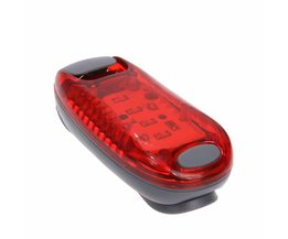 5 LED Weg Mountainbike Waarschuwing Achterlicht Fiets Veiligheid Achter Lamp Licht Rugzak Rijden Running Lights (Rood)