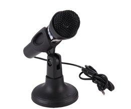 Microfoon voor Computer Bedrade Handheld Professionele Mic Condensator Microfoon met Microfoon Houder/Stand Voor PC Computer