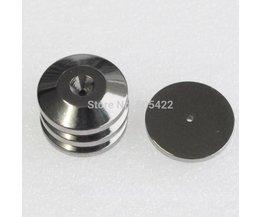 Diepe Geluid 4 STKS Zilveren Speaker Spike Base Pads CD Versterker Isolatie hifi Floor Stand Voeten