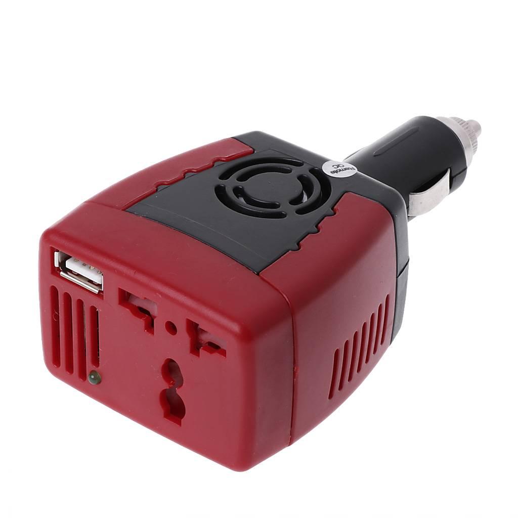 Praktische Auto Omvormer Lader Adapter 12 V DC Naar 110-220 V AC + USB 5 V 150 W-Y103