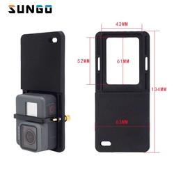 MyXL Schakelaar Mount Plaat Adapter Voor Gopro 5 4 3 xiao Yi mi 4 k eken cam Voor DJI Osmo Mobiele Zhiyun Handheld Gimbal Camera Accessoires