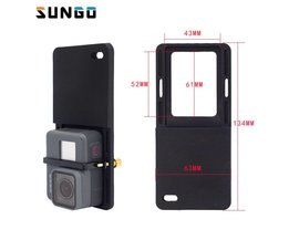 Schakelaar Mount Plaat Adapter Voor Gopro 5 4 3 xiao Yi mi 4 k eken cam Voor DJI Osmo Mobiele Zhiyun Handheld Gimbal Camera Accessoires