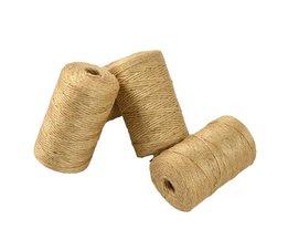 1 Roll 90 m Twisted Craft Linnen Touw Natuurlijke Jute Jute touw Hennep Cord Craft