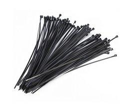 Zwart 100mm Nylon Plastic Netwerk Cable Zip Tie Cord Strap Plastic Zip Trim Wrap Cable Loop Ties Draad Zelfsluitende 100 STKS