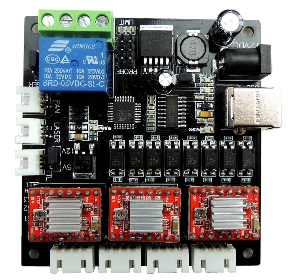 Bgc31 mos 2axis cnc brushless gimbal controller board driver large