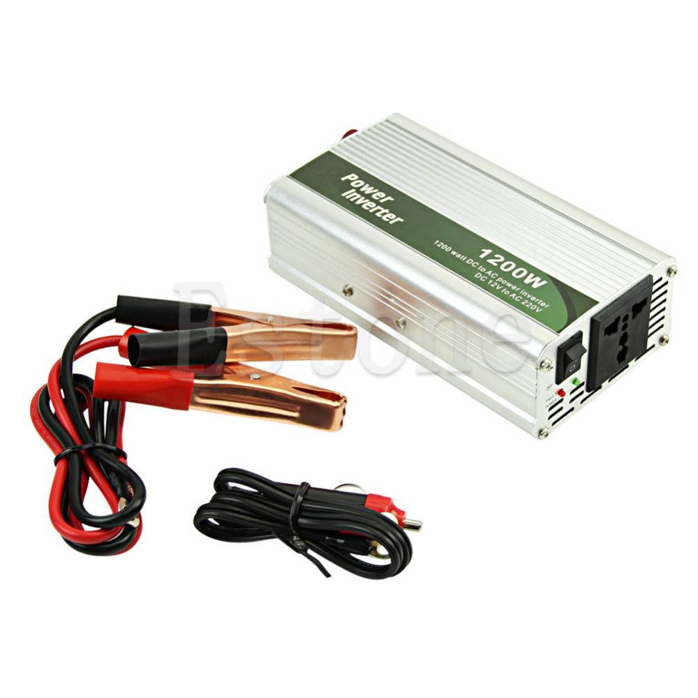1200 W DC 12 V naar AC 220 V Auto Omvormer Lader Converter Voor Elektronische