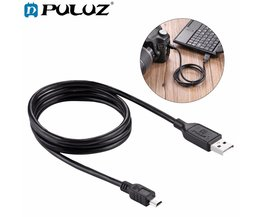 PULUZ Voor Camera Accessoires Mini 5 pin USB Sync Gegevens Oplaadkabel voor GoPro HERO4/3 + Canon EOS 50D/60D/70D/5D2/5D3
