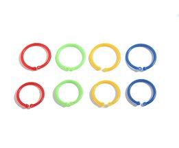 50 stks/doos 33mm Kleurrijke Plastic Boek Cirkel Ring Opening Card Ring losse Blad Binding Coil Papier Kaarten Fotoalbum Menu Boek DIY