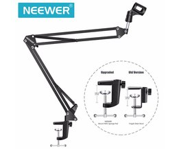 Neewer NB-35 Broadcasting Studio Microfoon Mic Stand Boom Scissor Suspension Arm Mount Shock Voor Montage Op PC Laptop Notebook