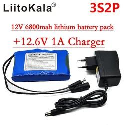 MyXL Liitokala Draagbare Super Oplaadbare Lithium Ion accu capaciteit DC 12 V 12.6 v 6800 mah batterij CCTV Cam Monitor