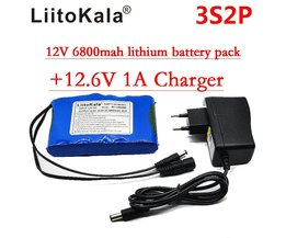 Liitokala Draagbare Super Oplaadbare Lithium Ion accu capaciteit DC 12 V 12.6 v 6800 mah batterij CCTV Cam Monitor