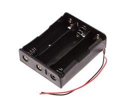5 stks/partij Plastic 18650 Batterij Box Houder Batterij Opbergtas Voor 3x18650 3.7 V Met Draad Leads