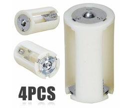 4 stksCollectie Batterij Doos 3x AA naar D Formaat Batterij Adapter Converter Houder Switcher Case Box voor Batterij opslag
