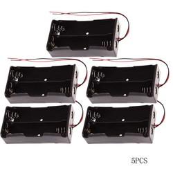 MyXL 5 stks/partij Plastic 18650 Batterij Houder Zwart 18650 Case Power bank Doos Opslag voor 2 Batterijen