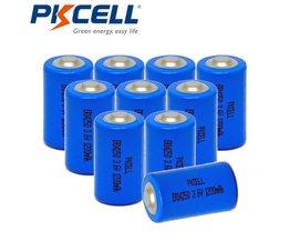 10 stks/partij pkcell 1/2 aa batterij 3.6 v er14250 14250 1200 mah lisocl2 lithium batterij batterijen voor gps