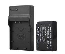 1 st 1500 mAh LP-E17 LPE17 LP E17 Camera Batterij + USB Charger voor Canon EOS M3 M5 750D 760D T6i T6s 8000D Kus X8i