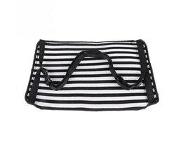 Mode Draagbare Katoen Gebreide Footrest Vlucht handbagage Voet Hangmat Rest