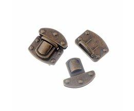 Gratis Shipping-5 Sets Brons Tone Sieraden Kofferbak Slot Handtas Accessoires Purse Snap Sluitingen/Sluiting Sloten 3.5x3.8 cm