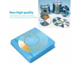 100 Stks/set CD DVD Dubbelzijdig Cover Storage Case PP Tas Mouw Envelop Houder WereldwijdDrop